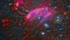 South of Antares, in the tail of the nebula-rich constellation Scorpius, lies emission nebula IC 4628