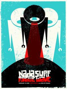 Vintage style Nada Surf poster