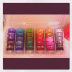 wish i had this glitter set!