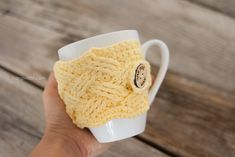 Woven Cables Mug Cozy Crochet Pattern   www.1dogwoof.com