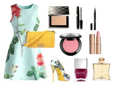 """""""Floral Nudes"""" by america-may on Polyvore featuring NYX, Chicwish, Dolce&Gabbana, Chanel, Burberry, Charlotte Tilbury, Stila, Nails Inc. and Hermès"""
