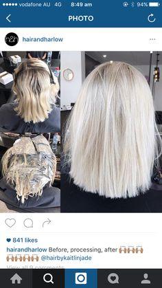 colour - Make-up & hair - Hair Blonde Hair Looks, Brown Blonde Hair, Platinum Blonde Hair, Hair Color And Cut, Hair Color Dark, Hair Colour, Grunge Hair, Hair Today, Hair Dos