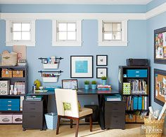 Room makeover After: Organized Work Space that is budget friendly