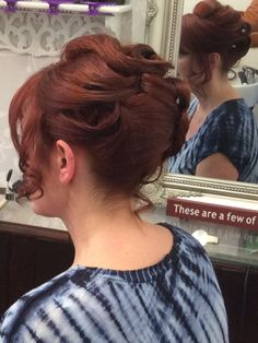 Beautiful hair up do done by Angie at Cloud Nine Hair and Beauty Salon. Tel: 01785 761212