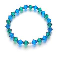 £25 Amara crystal bridesmaid bracelet blue zircon and capri blue. House of colour winter