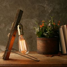 Rustic Wood and Steel Lamp by Luke Lamp Co. via Fab.com