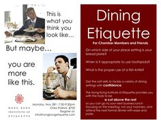 Etiquette   Dining Etiquette for CanCham and AmCham Members and Friends   HONG ... Etiquette Dinner, Dining Etiquette, Fish Knife, Hearts, Friends, People, Amigos, Table Manners, People Illustration