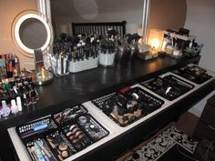 I wish my makeup station looked like this
