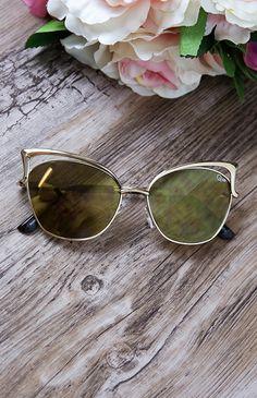 Quay Australia - Lana Sunglasses - Gold | Accessories | Peppermayo