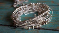 Boho  White Diamonds  Endless Leather  Wrap by fleurdesignz, $39.00