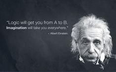 albert einstein, einstein, einstein quote, imagination, logic - inspiring picture on Favim.com