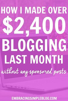 Want to know how I made over $2,400 from blogging last month as a stay-at-home Mom? Click to read exactly how I earn an income from blogging in my January 2016 Blog Income and Traffic Report!