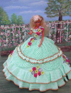 (1) häkeln Mode Puppe Muster für 11 1/2 Fashion Dolls wie Barbie. Dies ist ein Muster nicht das fertige Produkt.  #34 SPRING BOUQUET-Original-Design von ICS Original Designs - Make mit #10 Crochet Thread.  Wenn Sie möchte die Muster per e-Mail für Sie zu haben, anstatt Sie zu verschickende Versand werden kostenlose aber lass es mich mit Ihrer Zahlung zu wissen, dass dies ist, was Sie wollen.  Käufer außerhalb USA-Patterns stehen über E-Mail nur  DIESE MUSTER SIND NUR ZUM PERSÖNLICHEN GEB...