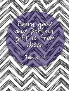 Bible verse ~ James 1:17