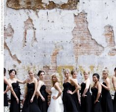 another black bridal party