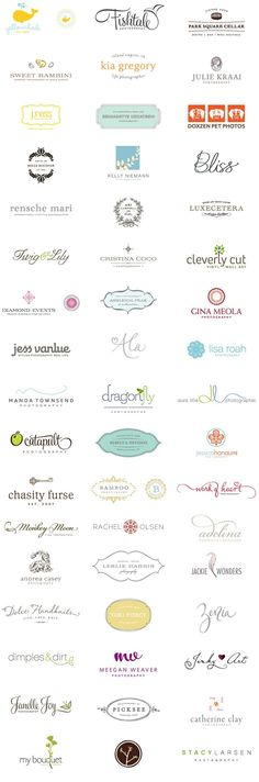Cute little logos! I like the different fonts and image combos.