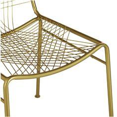 Cb2 brass chair
