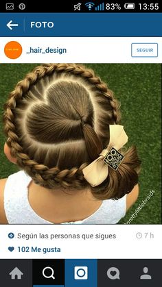 Heart into bun with crown braid