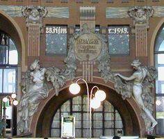 Prague's main railway station by Josef Fanta in the Art Nouveau style