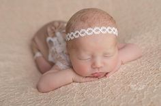 #Newborn #headband #Photo #session #props #Newborn #beige #romper #photoprops #romper