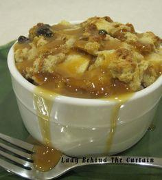 Caramel Apple Bread Pudding   (ladybehindthecurtain.com)