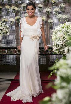 Vanessa Giácomo grava vestida de noiva (Foto: Inácio Moraes / Gshow) //// Martu