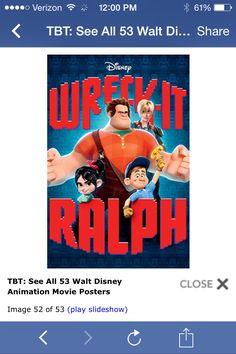 Original disney movie posters. Wreck it Ralph