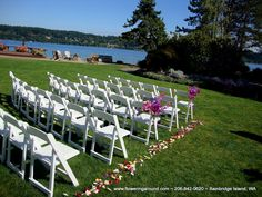 Kiana Lodge chair flowers. we will have petals on the ground but not flowers on the chairs