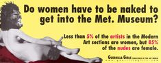 Poster, Do Women Have to be Naked to Get into the Met. Museum?, 1989 | hbns | Visits | Collection of Cooper Hewitt, Smithsonian Design Museum