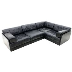 Black Leather Modular Sofa by De Sede, Switzerland   From a unique collection of antique and modern sofas at http://www.1stdibs.com/furniture/seating/sofas/