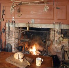 Wonderful collection of fireplace utensils.