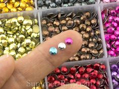 Hot Fix Rhinestuds SS16 (4 mm) Mixed Color in Storage Box - 10800 pieces