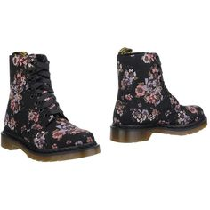 Dr. Martens Ankle Boots (135 CAD) ❤ liked on Polyvore featuring shoes, boots, ankle booties, black, ankle boots, round cap, round toe boots, black bootie and round toe booties