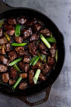 Vietnamese Shaken Beef Bowl – The slightly sweet Hoisin sauce adds a whole dynamic to this savory dish. Served best with vegetables and/or rice // via Half Baked Harvest
