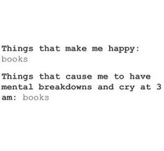 Truth about Books #fangirl #fanboy | we're all mentally broken