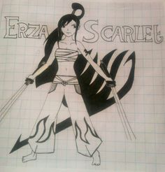 Erza Scarlet, Fairy Tail. By: Mo Scarlet