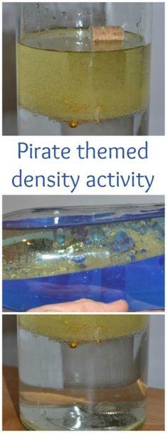 Fun pirate themed density activity