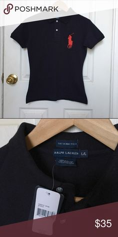 The Skinny Polo Ralph Lauren The Skinny Polo Ralph Lauren. Navy blue/red logo. 100% cotton. Ralph Lauren Tops