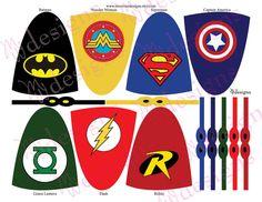 Superhero Lollipop Capes and Masks / Superhero by mwarnerdesigns