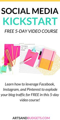 Learn how to boost blog traffic with this free 5 day course! | Social Media | Facebook | Pinterest | Instagram | how to grow blog traffic | How to grow blog engagement! #socialmediatips