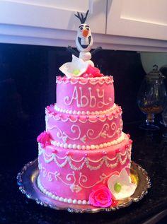 Frozen themed coronation birthday cake
