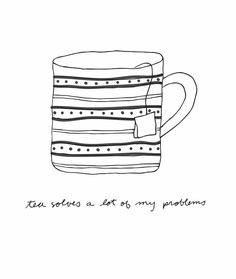 It brings us together for a cuppa of bliss. Can't hold onto that cuppa & hard unloving thoughts... calms the spirit.