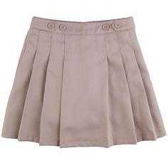 Plus Size Girls 4-16 & Plus Chaps Pleated School Uniform Button-Accent Skort, Size: 8 1/2, Med Beige