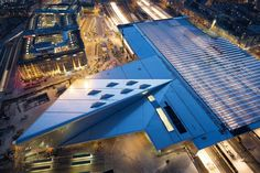 Rotterdam Centraal vanaf Delftse Poort