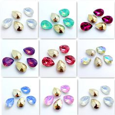 Details about Wholesale 20PCS Teardrop Resin rhinestones beads 13x18mm diy hot