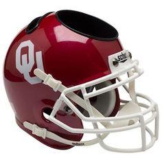 Oklahoma Sooners Schutt Mini Helmet Desk Caddy