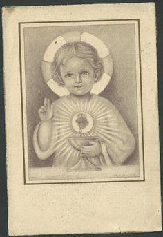 Estampa antigua del Niño Jesus andachtsbild santino holy card santini | eBay                                                                                                                                                                                 Más
