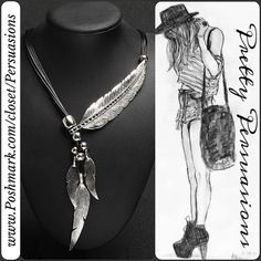"NWT Silver Tone Feather Pendent Statement Necklace NWT Boho Feather Pendant Statement Necklace  Available in gold tone in separate listing  Metal: Zinc Alloy Chain: Rope Chain  Pendant Pattern: Feather  Measurements taken in inches:  Chain length: 19.11"" (with adjustable length) Pendant Length: 4.68""   Bundle discounts available  No pp or trades Pretty Persuasions Jewelry Necklaces"
