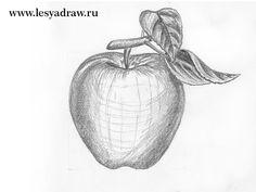 Auf folgende Seite erkennen Sie, wie kann man den Apfel selber zeichnen. Die Anleitung finden Sie hier. Schauen Sie mal und probieren Sie selber.
