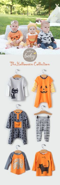 Hallmark Baby has lots of sweet treats for your kiddos this Halloween season! Super soft fabrics and built to last, these little rompers, bodysuits, sleepers, hats, bibs and even tops and tee's for boys & girls are the easy answer to Halloween parties, trick or treating or just getting in the spooky spirit! Plus you can add your child's name to lots of the pieces to make them perfectly personalized - come take a peek!